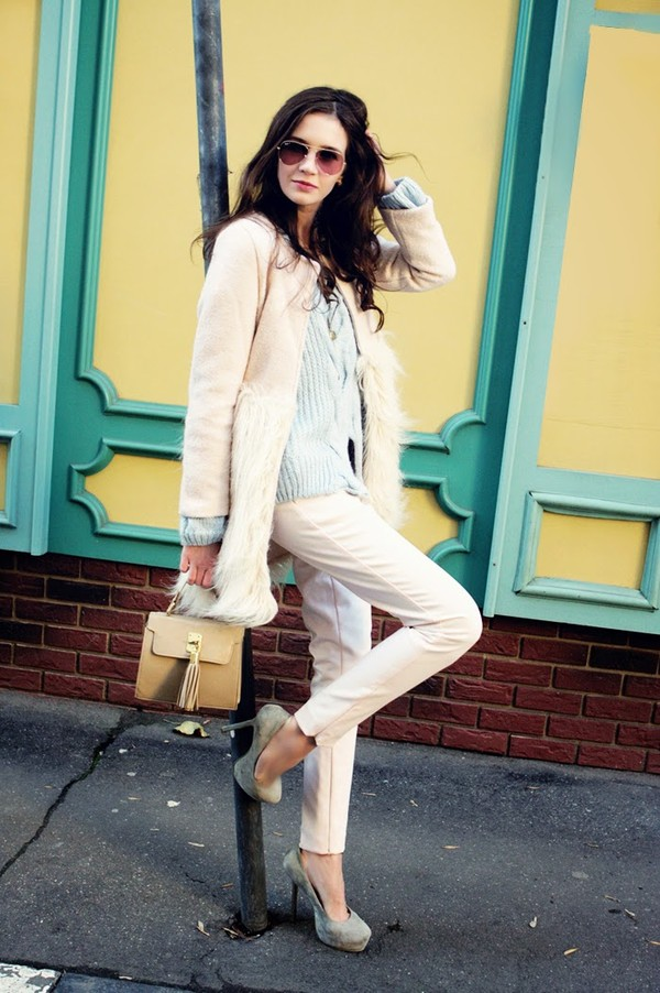 oh my blog coat sweater pants sunglasses shoes jewels
