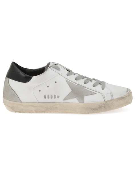 Golden goose metal white black cream shoes