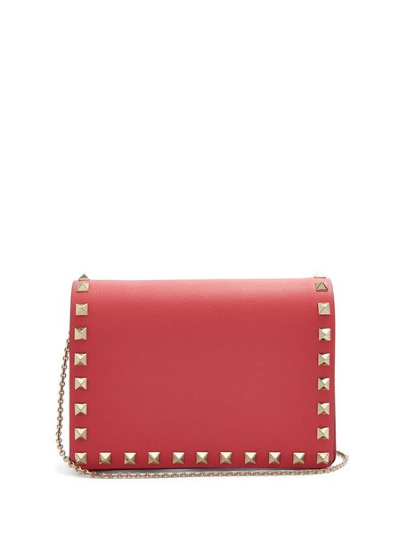 Valentino leather clutch clutch leather pink bag
