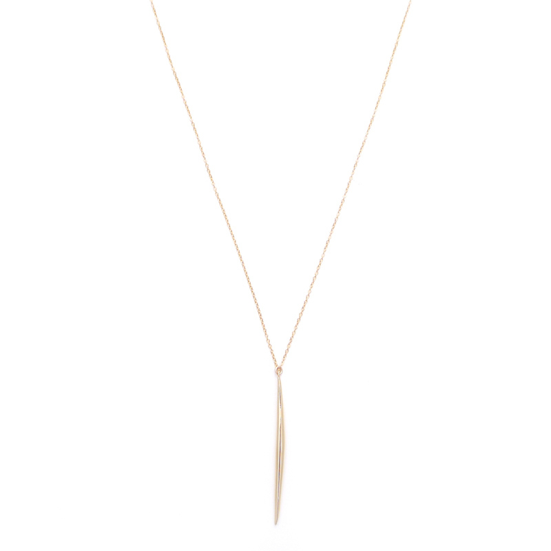 small gold spike - Gold & Gray