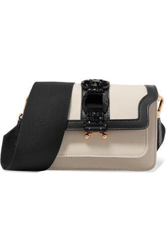 embellished bag shoulder bag leather white