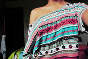 shirt,aztec,pink,light blue,oversized,off the shoulder,tribal pattern,t-shirt,sweater,ethnic,ethnic print,girly,clothes,cute,one shoulder shirt,colorful,crop tops,blue,cropped,tank top,one shoulder,summer outfits,summer,off shoulder crop top,tribal print sweater,tribal shirt,aztec sweater,aztec top,top,vintage,outfit,ideas,pink by victorias secret,ethno,sweet,black,white,blouse,beautyful,hype,hipster,aztec shirt,sholder