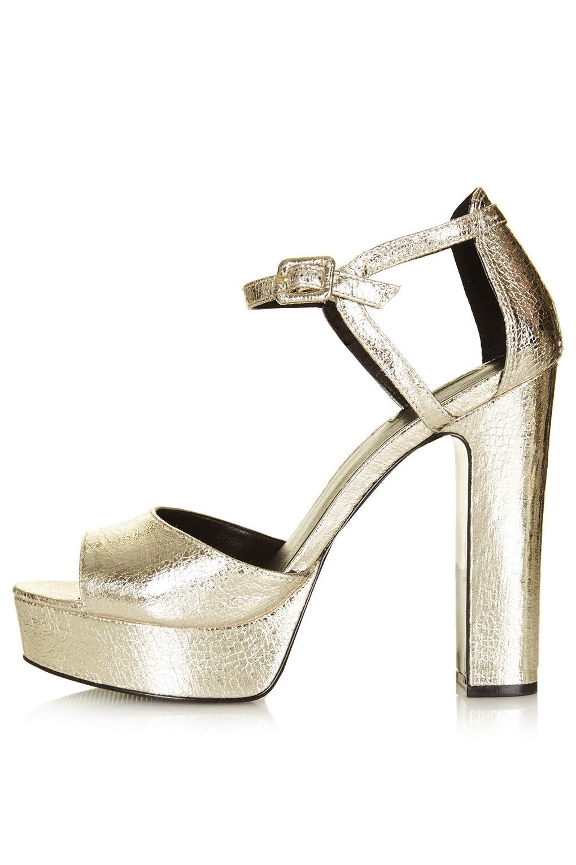 9e68daa7b79 LENA Metallic Platform Sandals - Platform Sandals - Sandals - Shoes