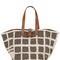 Karla recycled shearling tote bag