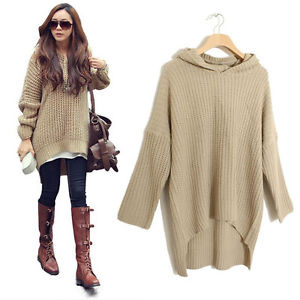 Women Batwing Jumper Cape Ponchos Oversize Knitwear Sweater Tops ...