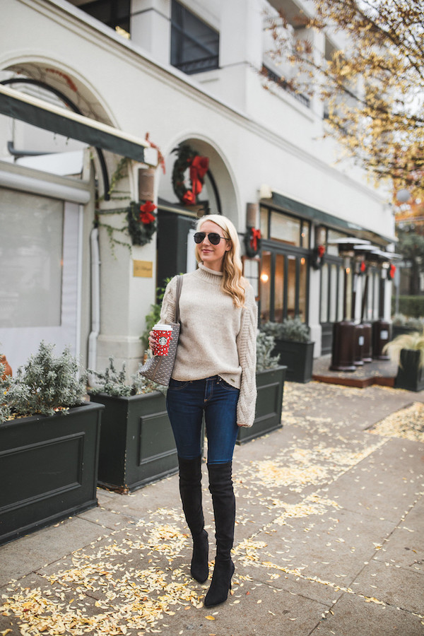 89498d8514b krystal schlegel blogger jeans shoes bag winter outfits fall outfits thigh  high boots boots handbag high.