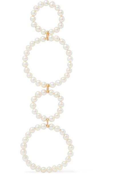 Saskia Diez pearl gold white jewels