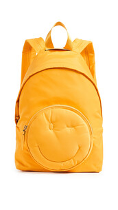 smiley,backpack,yellow,bag