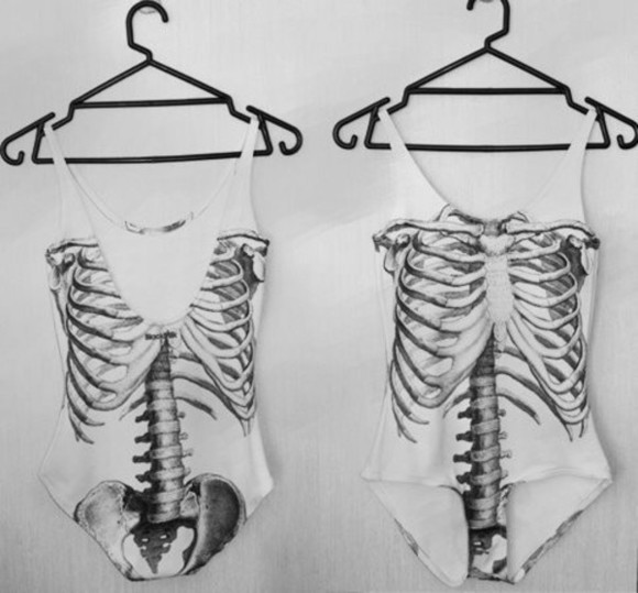 bodysuit shirt skeleton tumblr
