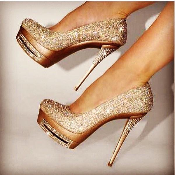 shoes high heels golden heels heels wheretoget. Black Bedroom Furniture Sets. Home Design Ideas