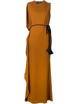 dress evening dress brown