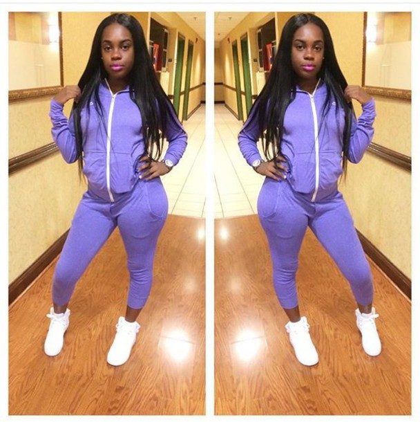 5a03df97f3bb jacket nike purple lavender joggers matching set cute tight