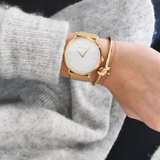 cardigan grey gold watch watch gold tumblr hand jewelry larsson and jennings