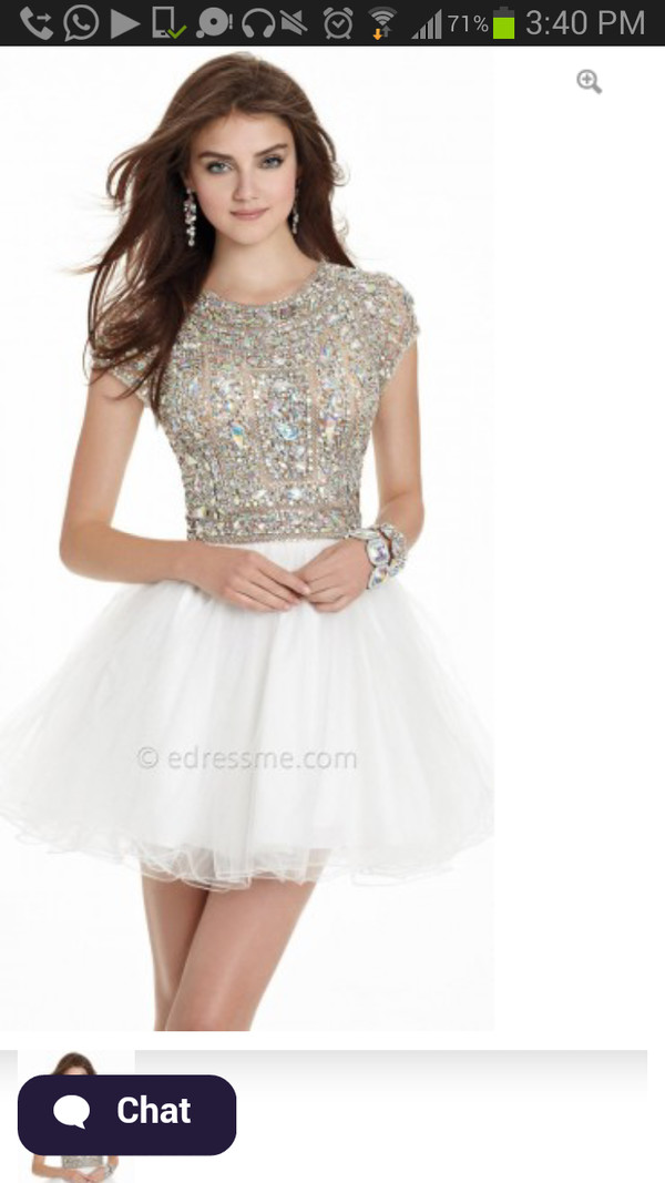 dress prom dress lovely cute dress cute prom short prom dress glitter glitter dress white dress sleeves hipster blogger white sequined formal ivory whit and beaded homecoming dress sweet 16 dresses beaded dress jewels pretty party dress can any one help me out with this