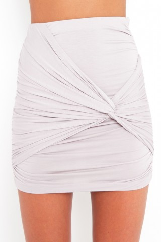 Ruched knot skirt