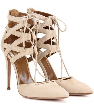 suede pumps pumps suede beige shoes