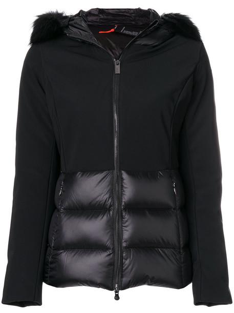RRD jacket hooded jacket fur fox women spandex black