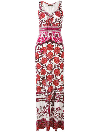 dress maxi dress maxi rose women white cotton print silk