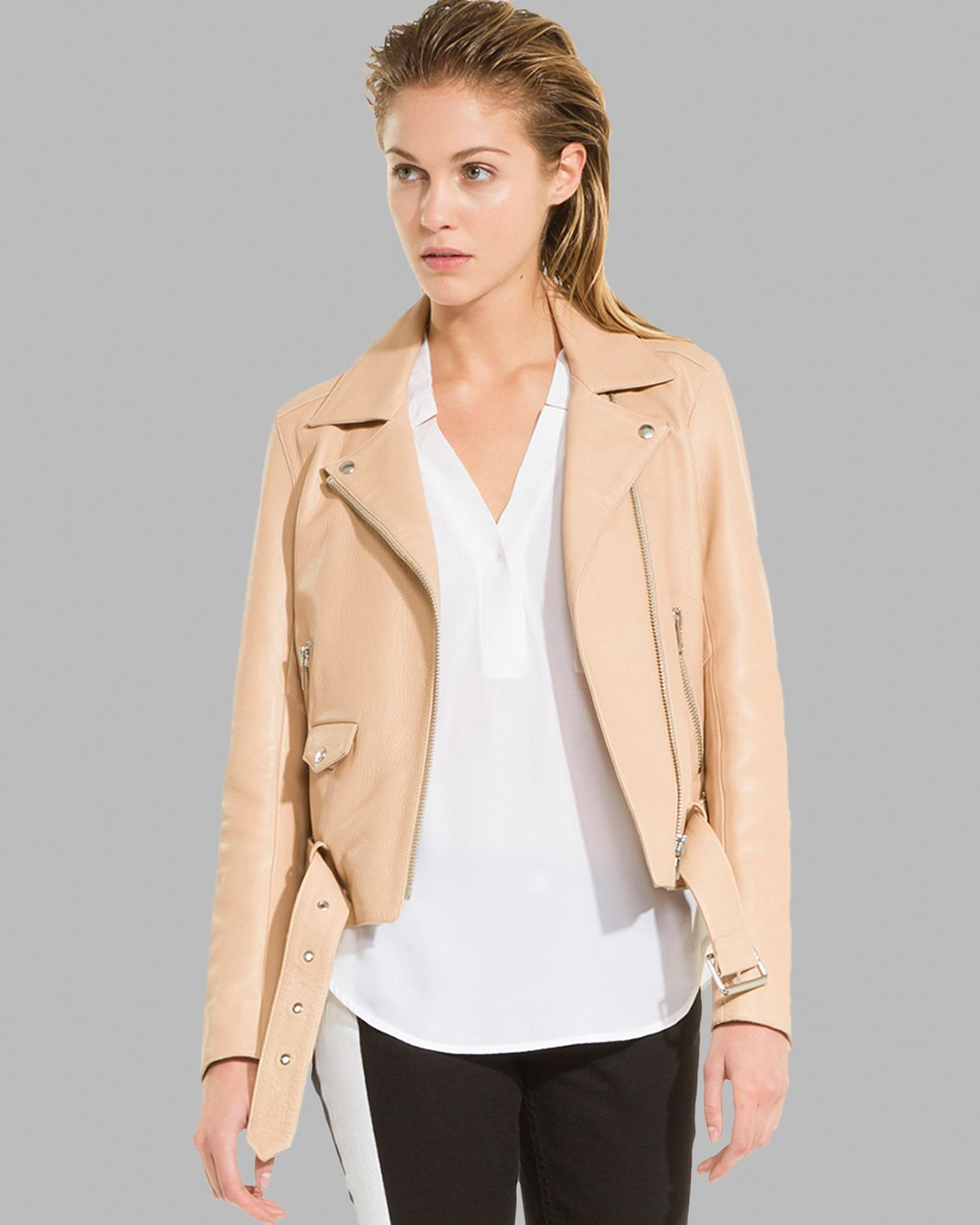 Sandro Jacket - Leather Moto | Bloomingdale's