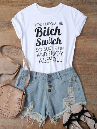 t-shirt trendy fashion style cool black and white white casual zaful