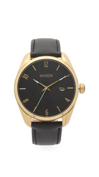 leather watch watch gold leather black jewels