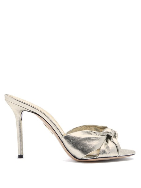 charlotte olympia sandals silver shoes