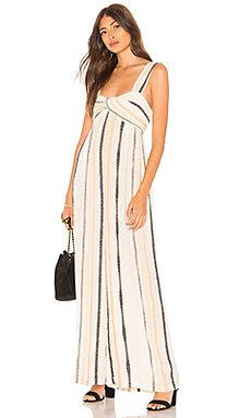Free People Breezin Through Striped One Piece in Beige from Revolve.com