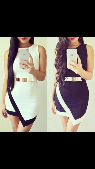 dress black and white blouse style summer dress