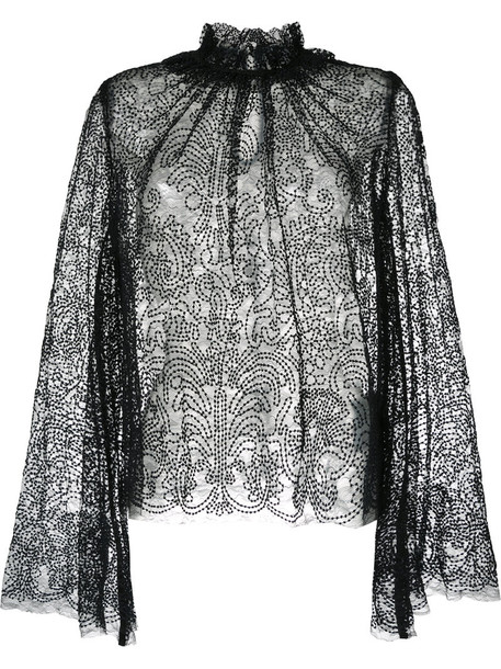 Alice McCall blouse metallic women black top