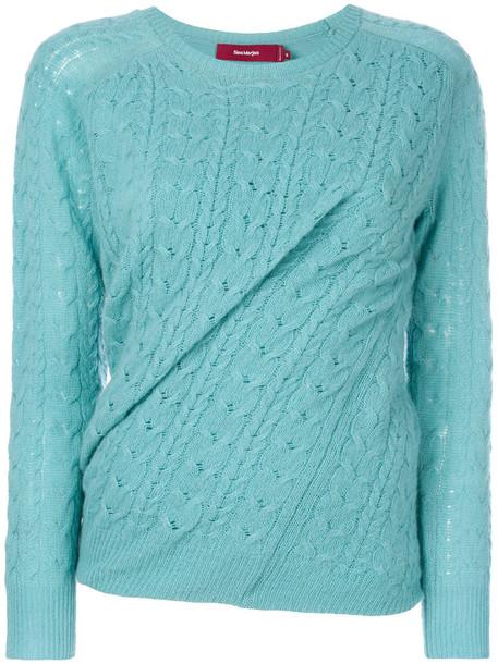 SIES MARJAN jumper women blue knit sweater