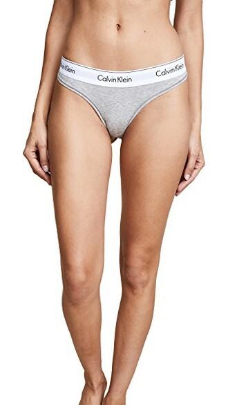 thong cotton grey underwear