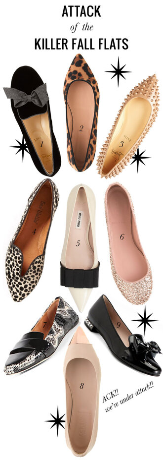 shoes nude flats leopard print