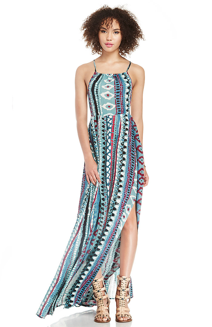 Dailylook: somedays lovin liar liar printed maxi dress in multi