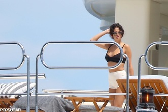 swimwear fashion white selena gomez high waisted bikini