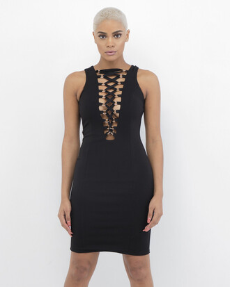 dress black black dress lace up lace up dress