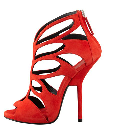 Aliexpress.com : Buy 2014 new gz sexy fashion red cutout sapatos femininos peep toes high heels ladies shoes summer sandals women shoes sandalias from Reliable sandals and shoes suppliers on ShinningQueen