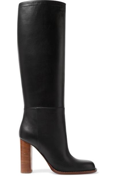 Marni - Leather Knee Boots - Black