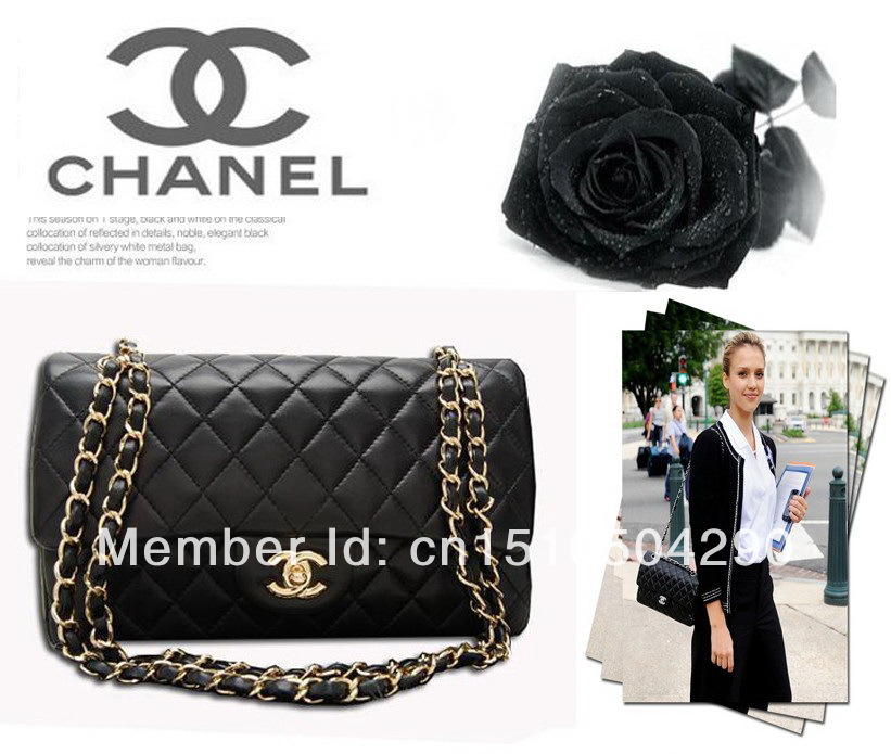 Fashion name brand chanels handbag gold chain women's leather handbag single shoulder bag tote bags, free shipping