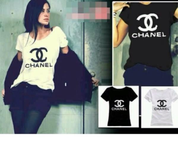 shirt chanel chanel t-shirt chanel shirt t-shirt t-shirt vogue t-shirt