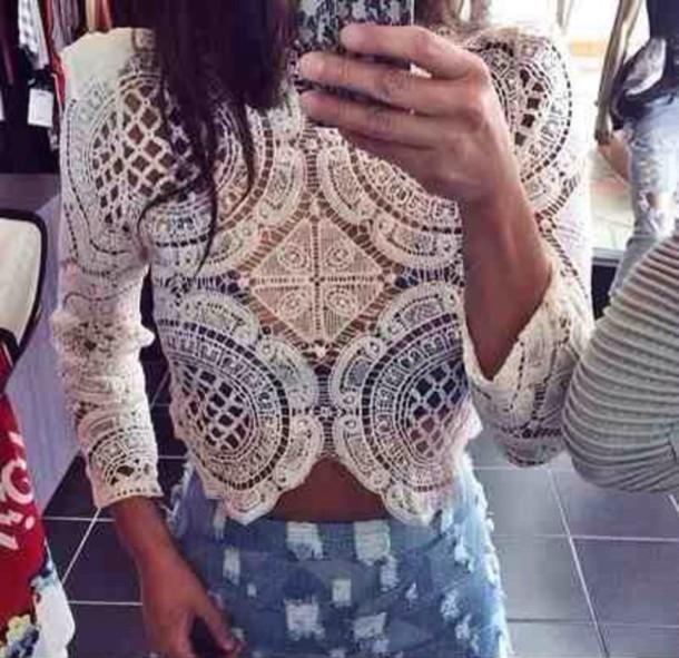 Cute hot lace totem top