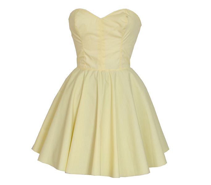 Pastel yellow party dress