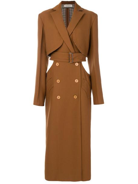 coat trench coat women wool brown