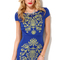 Detail bodycon dress in blue