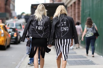 jacket black bff white leather jacket customised leather jackets black leather jacket black jacket skirt midi skirt striped skirt black skirt fringe skirt streetstyle embellished leather jacket