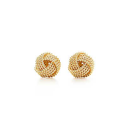 Tiffany Twist knot earrings in 18k gold. | Tiffany & Co.