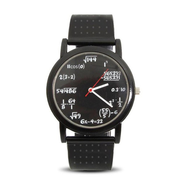 jewels watch nerd math black watch