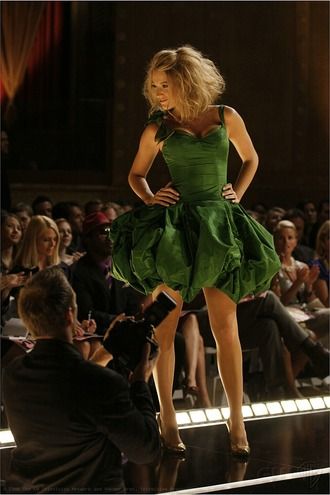 gossip girl serena blake lively green dress dress