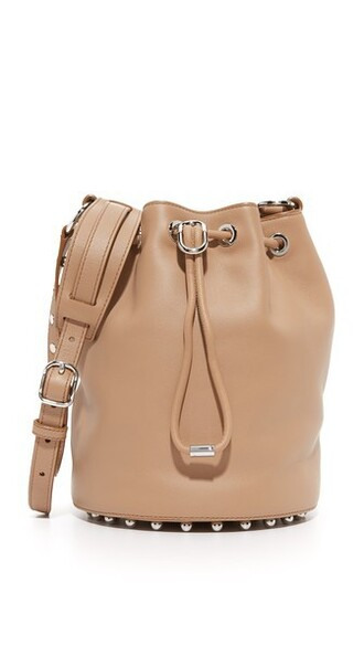 light bag bucket bag nude
