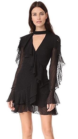dress mini dress mini long black