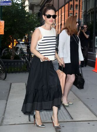 top pumps midi skirt black skirt rachel bilson